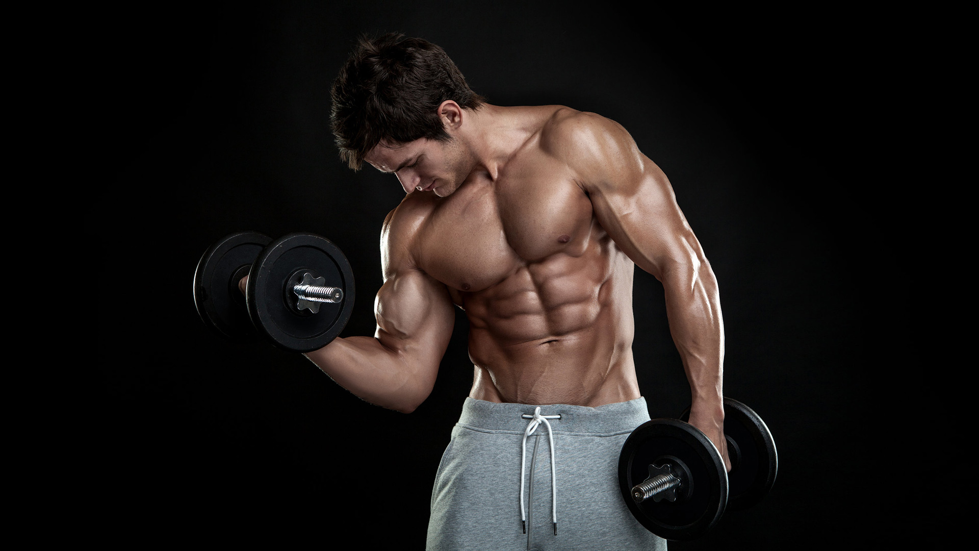 Male Biceps workout