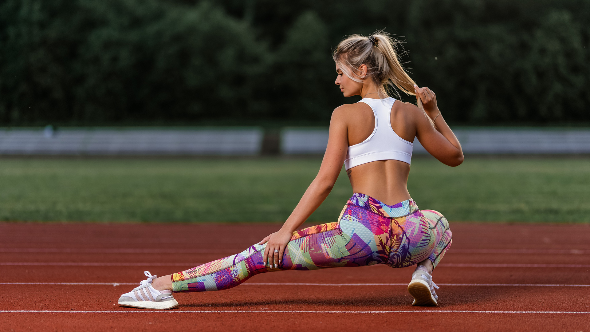 Stretching out before a run